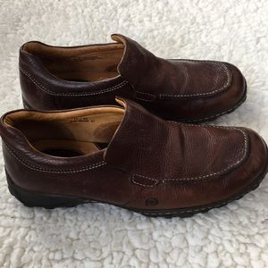 Men's Born Brown Leather Loafers Size 11